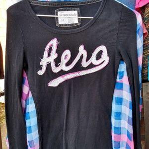 Long sleeve thermal logo shirt